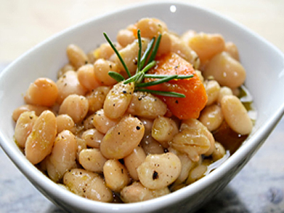 Slow Cooker White Beans with Rosemary & Coratina EVOO