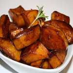 Cranberry-Pear White Balsamic Glazed Butternut Squash with Rosemary