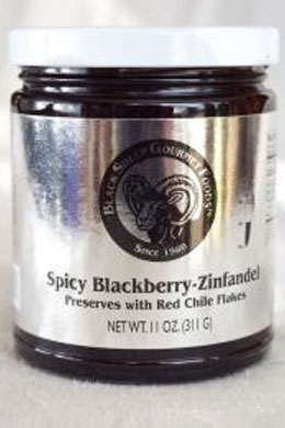 Spicy Blackberry-Zin with Red Chilies