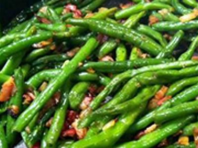 Garlic & Bacon Green Beans