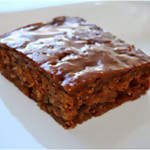 Carrot & Zucchini Gingerbread with Toasted Almond Oil & Cranberry-Pear White Balsamic Glaze