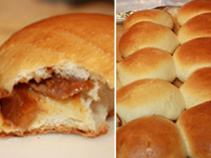 Homemade Chinese Char Siu Bao (Baked Pork Buns)