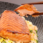 Grilled Salmon And Roasted Corn Relish