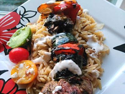 Rosemary Agrumato Grilled lamb kabobs