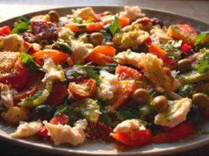 Panzanella Salad with Mozzarella Fresca