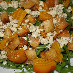Slow Roasted Golden Beet & Tangerine Salad Over Baby Arugula with Blue Cheese & EVOO-Citrus Vinaigrette