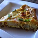 Simple Asparagus, Ham, and Gruyère Frittata with EVOO