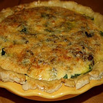 Bacon Cheddar Spinach Quiche with EVOO Crust